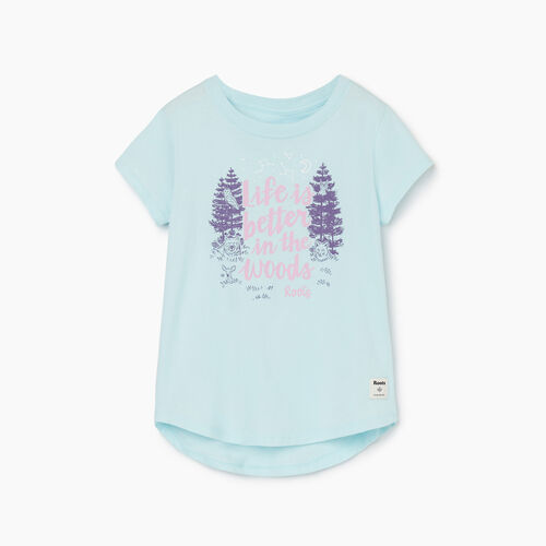 Roots-Kids Girls-Girls Life Is Better T-shirt-Blue Glow-A