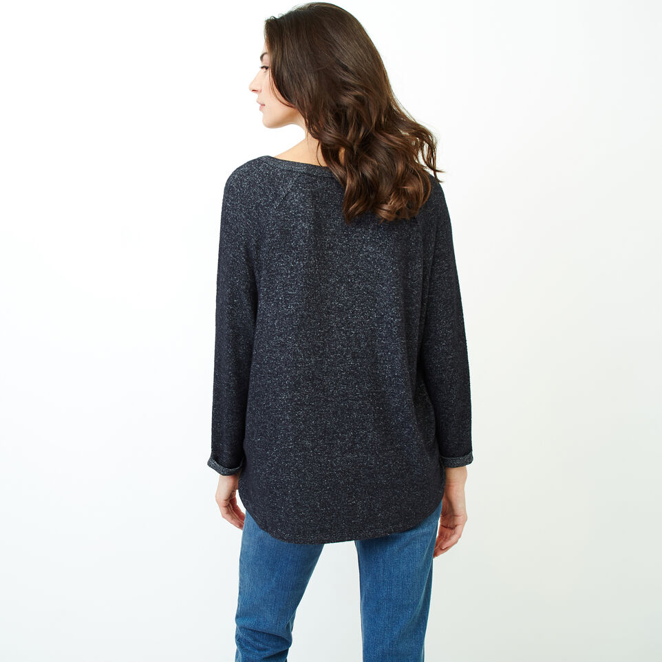 Roots-Women Clothing-Crawford Top-Black Mix-D