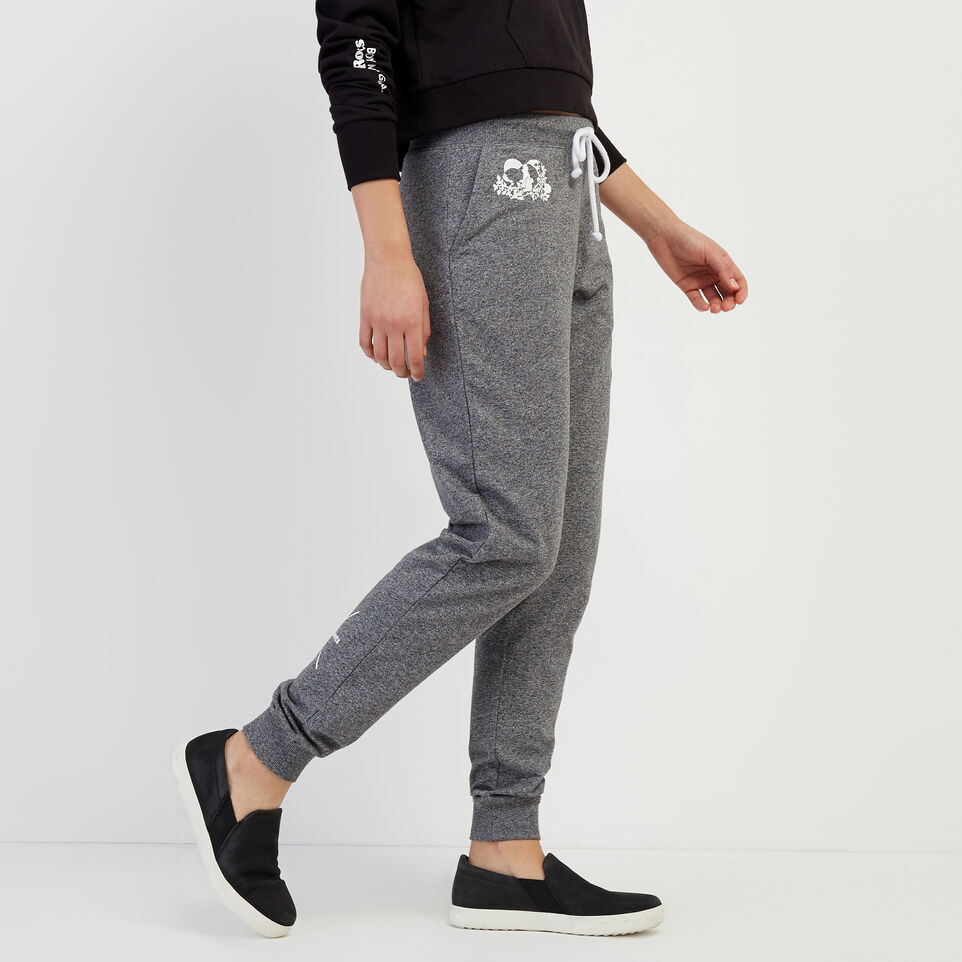 Roots-New For April Roots X Boy Meets Girl-Roots x Boy Meets Girl - Freedom Sweatpant-Salt & Pepper-C