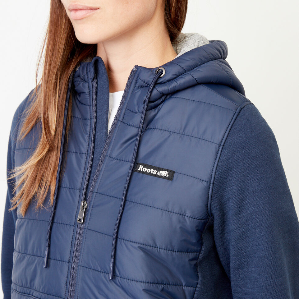 Roots-Women Our Favourite New Arrivals-Roots Hybrid Hoody Jacket-Navy Blazer-E