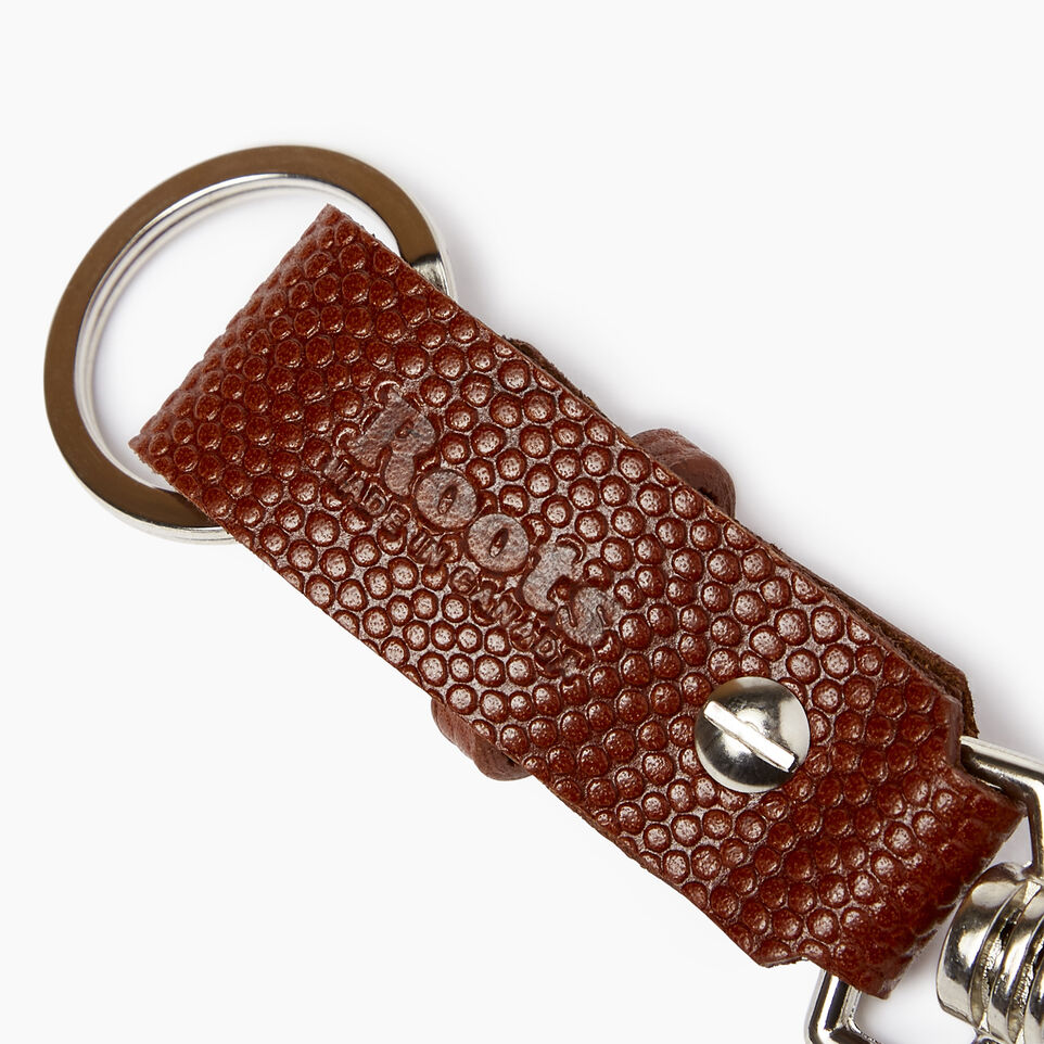 Roots-Women Clothing-Horween Key Chain-Cognac-B