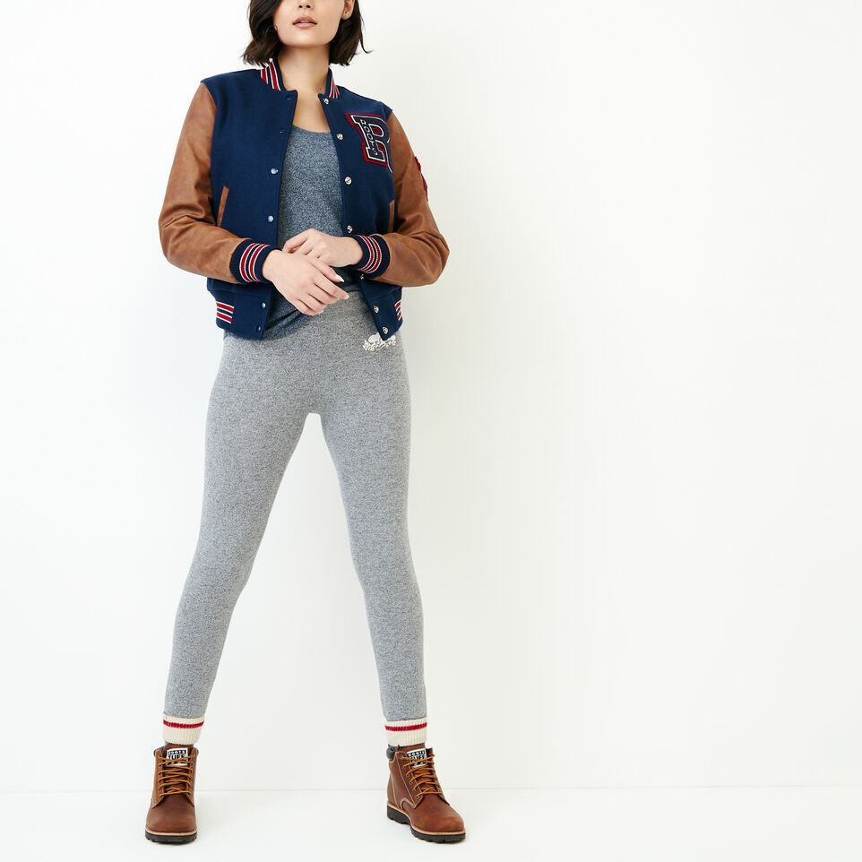 Roots-Women Clothing-Peppered Scoop T-shirt-Navy Blazer Pepper-B