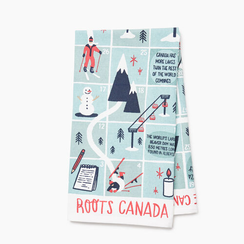 Roots-Women Our Favourite New Arrivals-Roots Game Tea Towel-Birch White-A