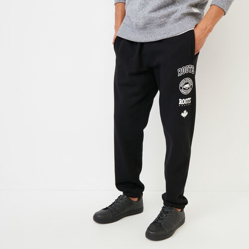 Roots-Men Sweats-Stamps Slim Sweatpant-Black-A
