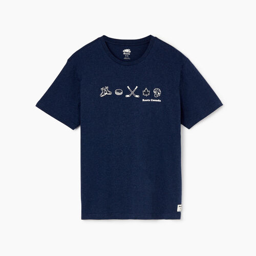 Roots-Men Our Favourite New Arrivals-Mens Hockey T-shirt-Navy Blazer Mix-A