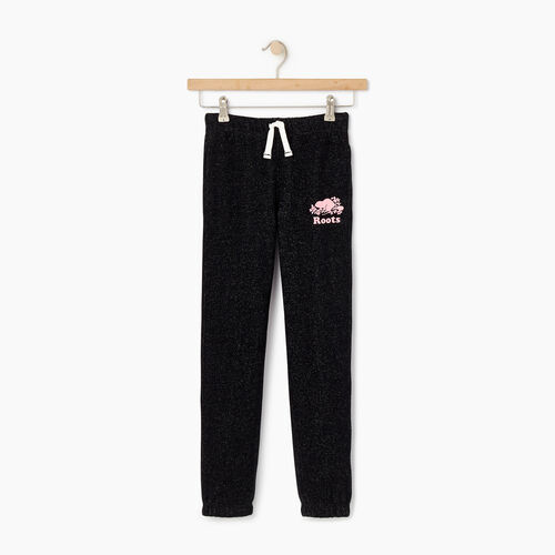 Roots-Kids Bottoms-Girls Original Roots Sweatpant-Black Pepper-A