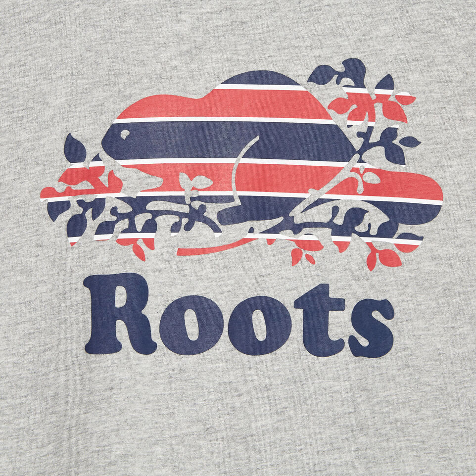 Roots-New For March Daily Offer-Womens Cooper Beaver Stripe T-shirt-Grey Mix-D