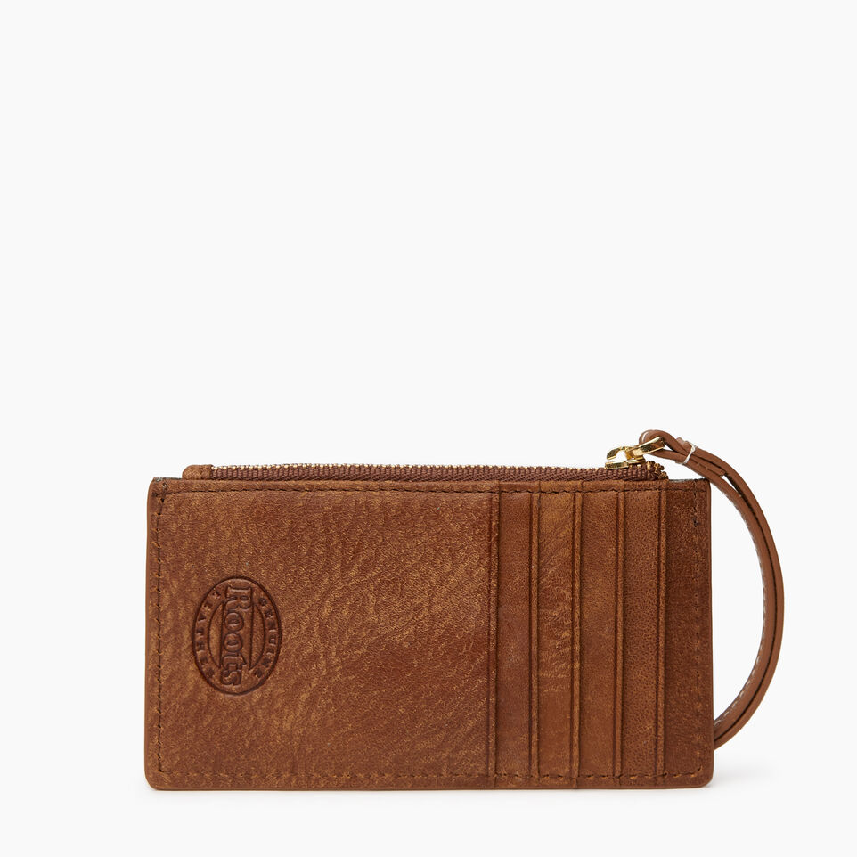 Roots-Leather Leather Accessories-Medium Card Wristlet-Natural-B