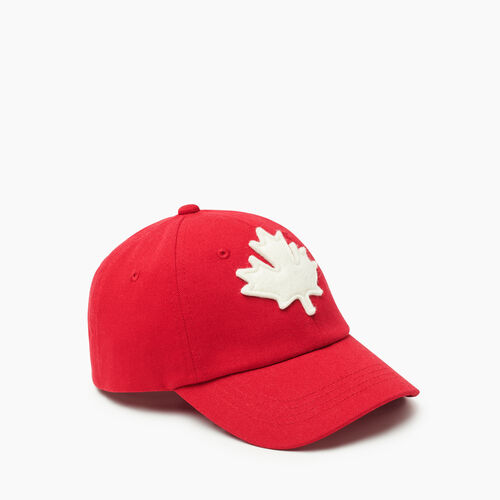 Roots-Kids Accessories-Kids Canada Baseball Cap-Red-A