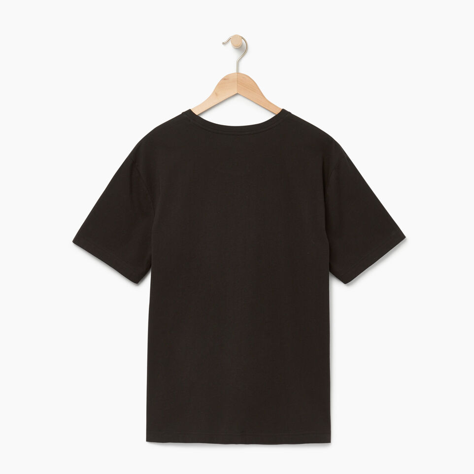 Roots-Men Our Favourite New Arrivals-Mens Brushed Arch T-shirt-Black-B
