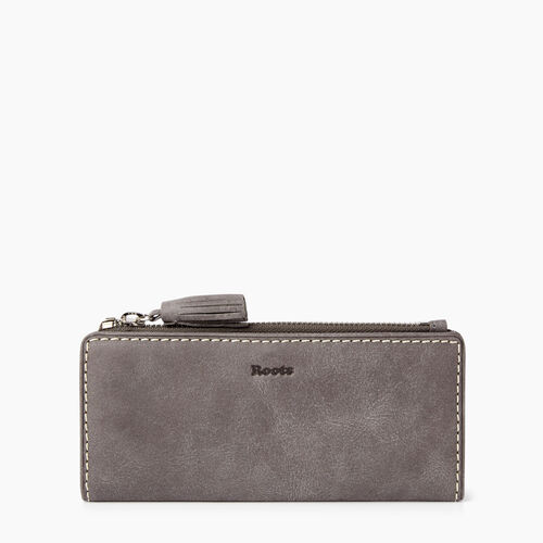 Roots-Leather Wallets-Slim Wallet Tribe-Charcoal-A