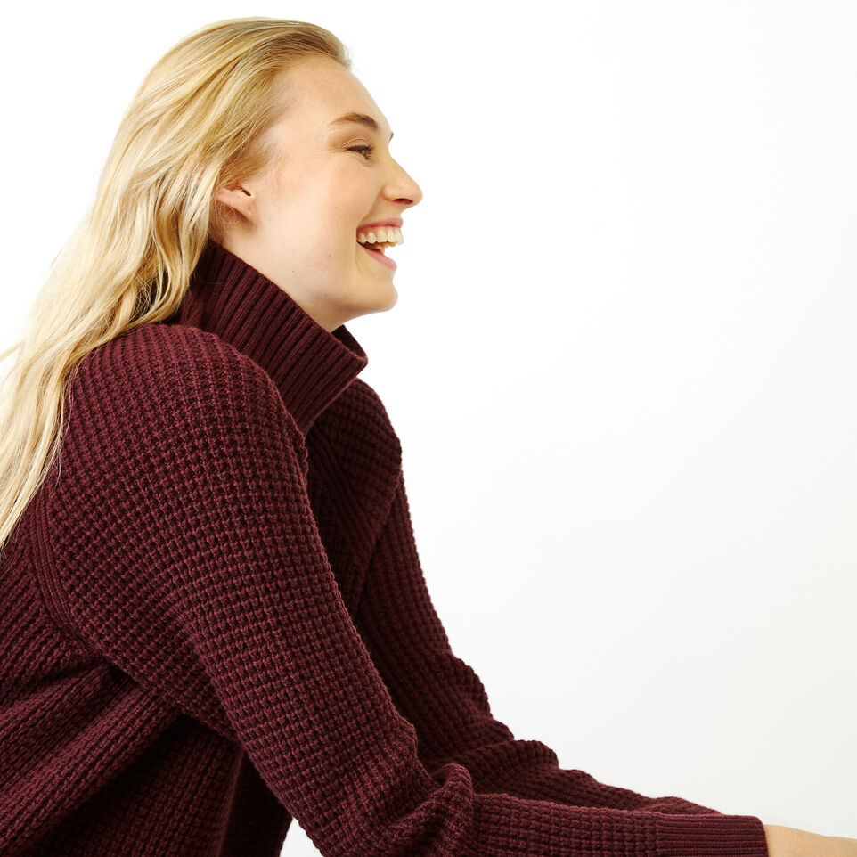 Roots-Women Our Favourite New Arrivals-Fraser Waffle Sweater-Crimson Mix-E