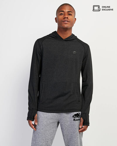 Roots-Sale Tops-Journey Hooded Long Sleeve Top-Black Mix-A