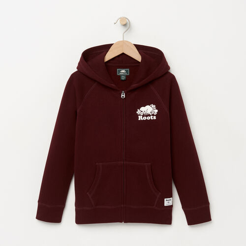 Roots-Winter Sale Kids-Boys Original Full Zip Hoody-Crimson-A