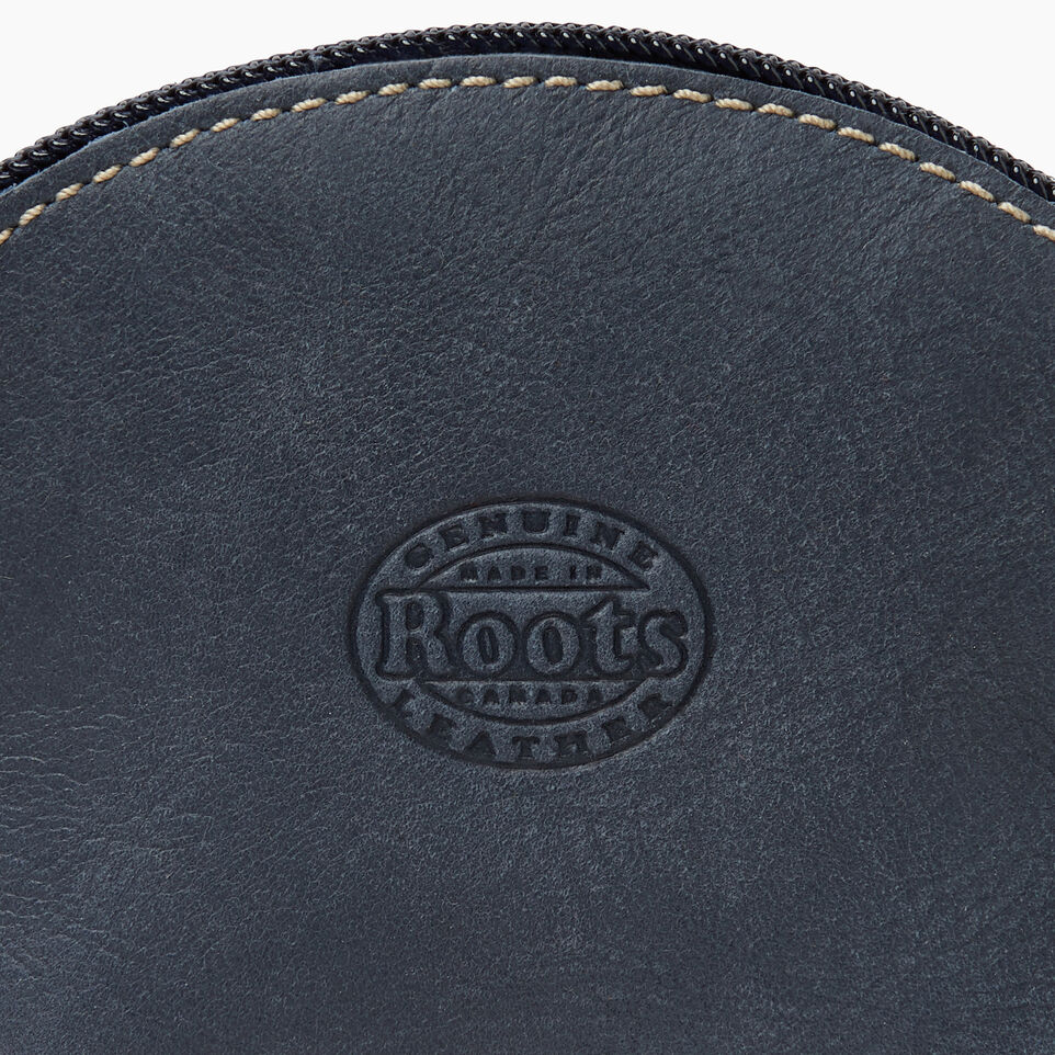 Roots-Leather New Arrivals-Small Euro Pouch-Navy-C