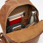 Roots-Leather Backpacks-Student Pack Tribe-Natural-E