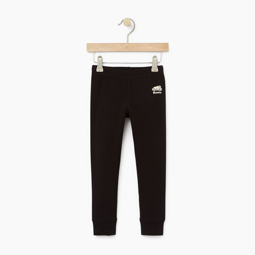Roots-Kids Bottoms-Toddler Cozy Fleece Legging-Black-A