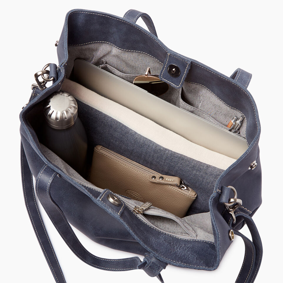 Roots-Leather Categories-Amelia Tote-Navy-D