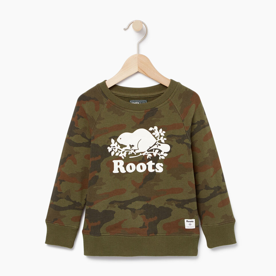 Roots-Kids Our Favourite New Arrivals-Toddler Camo Sweatshirt-Winter Moss Green-A
