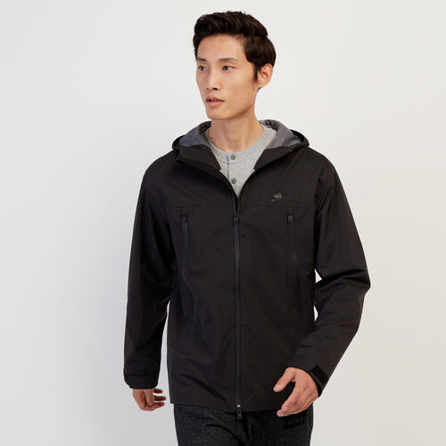 Roots-Men New Arrivals-Journey Rain Jacket-Black-A