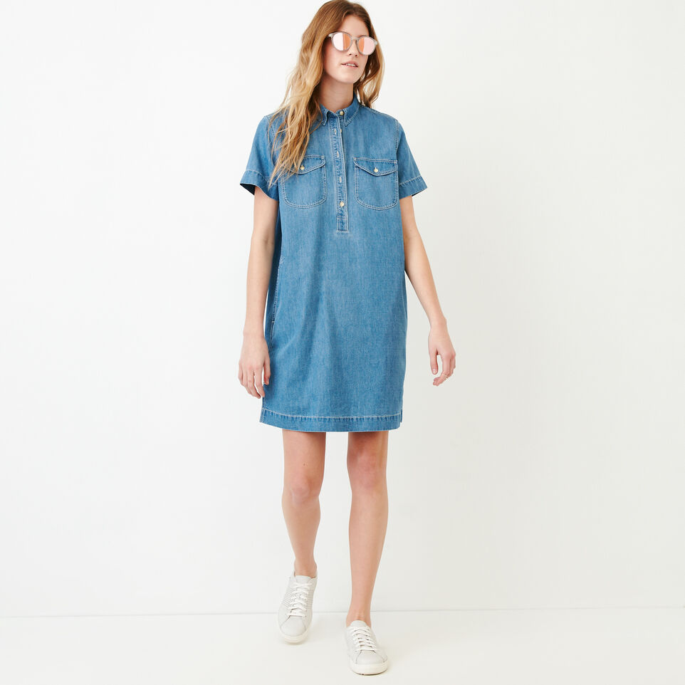 Roots-undefined-Sherbrook Chambray Dress-undefined-B