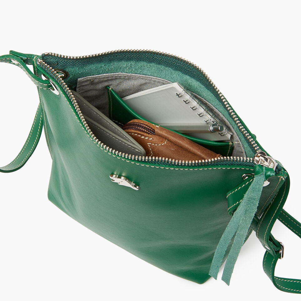 Roots-Leather  Handcrafted By Us Categories-Festival Bag-Emerald-D