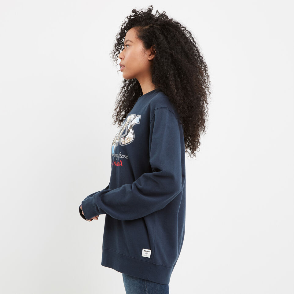 Roots-undefined-Greetings Crew Sweatshirt-undefined-C