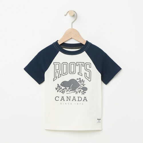 Roots-Kids Toddler Boys-Toddler Glow In The Dark Raglan Top-Pristine White-A