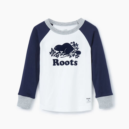 Roots-Kids Our Favourite New Arrivals-Toddler Cooper Beaver Raglan T-shirt-Navy Blazer-A