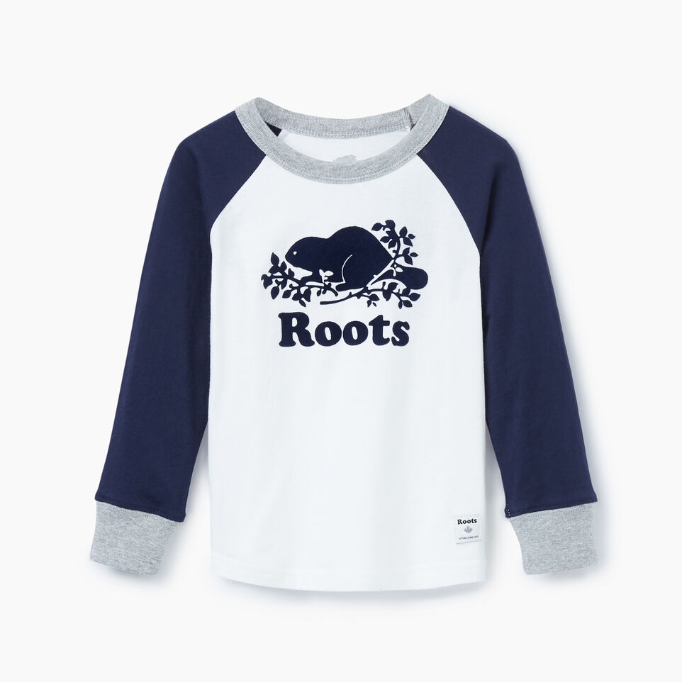 Roots-undefined-Toddler Cooper Beaver Raglan T-shirt-undefined-A