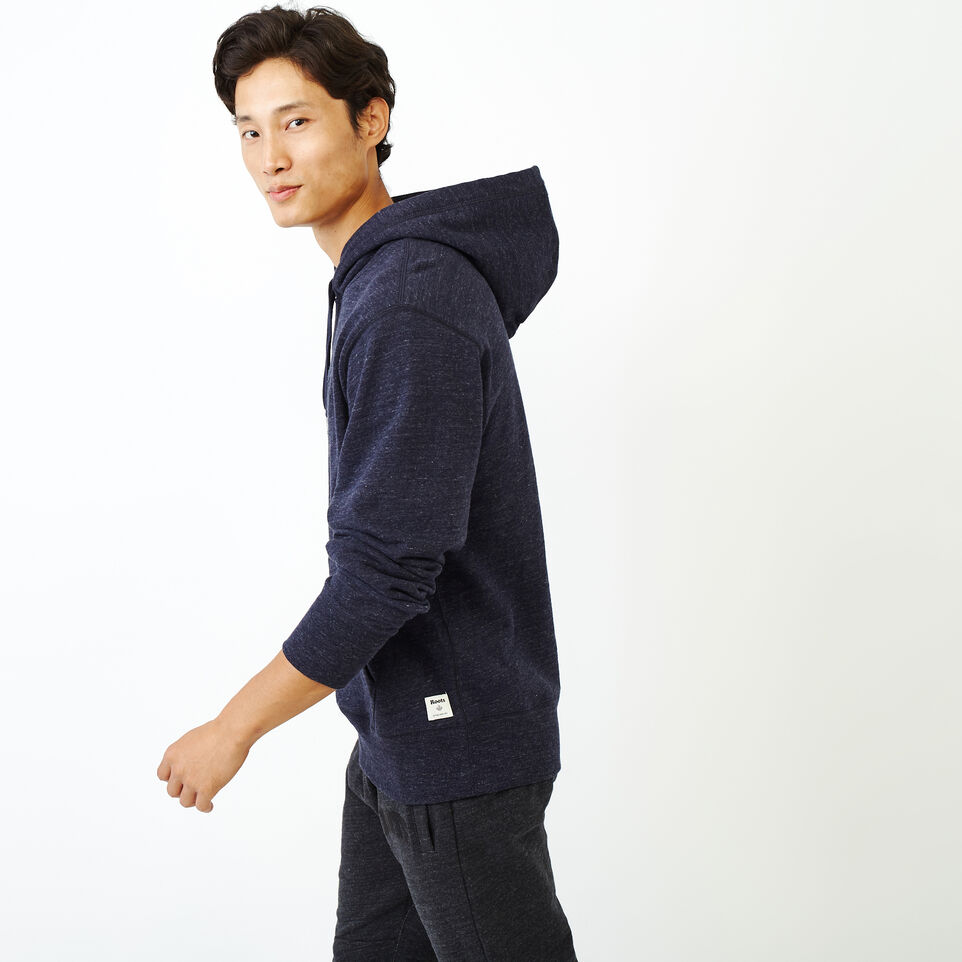 Roots-Men New Arrivals-40s Hoody-Navy Blazer Mix-C