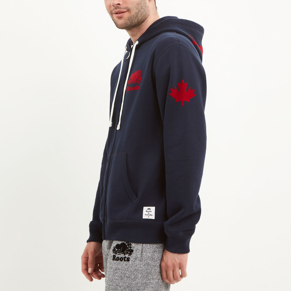 Roots-undefined-Mens Cooper Canada Zip Hoody-undefined-B