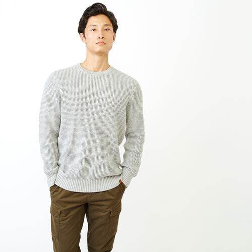 Roots-Men Our Favourite New Arrivals-Vault Waffle Sweater-Grey Mix-A
