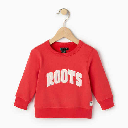 Roots-Kids Categories-Baby Roots Varsity Crew Sweatshirt-Chrysanthemum-A