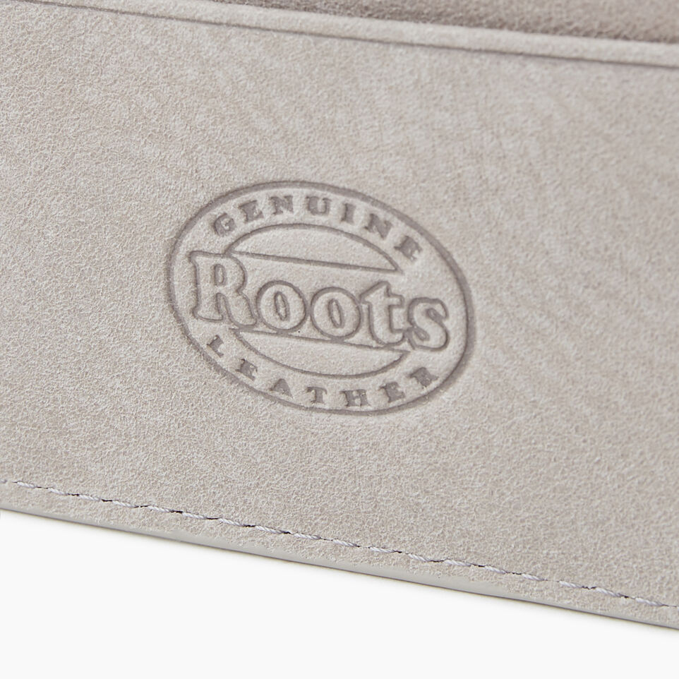 Roots-Leather  Handcrafted By Us Our Favourite New Arrivals-Card Holder Tribe-Sterling Grey-E