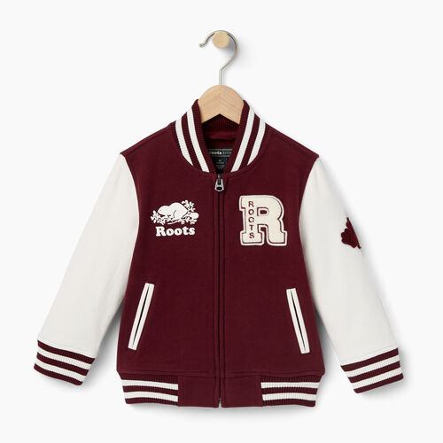 Roots-Kids Tops-Toddler Alumni Varsity Jacket-Northern Red-A