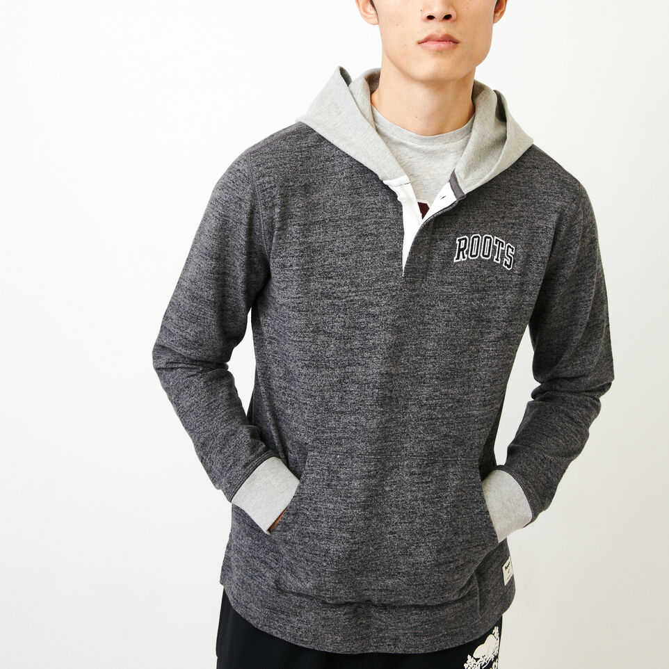 Roots-Men Categories-10oz Heavy Jersey Hoody-Charcoal Pepper-A