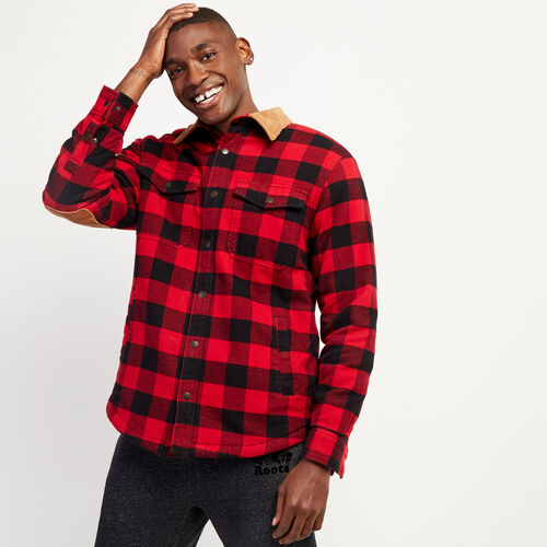 Roots-Men New Arrivals-Park Sherpa Overshirt-Cabin Red-A