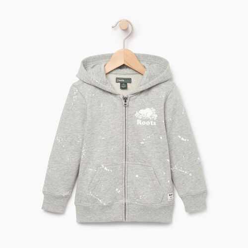 Roots-Clearance Kids-Toddler Splatter Full Zip Hoody-Grey Mix-A