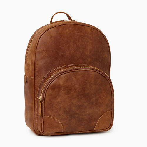 Roots-Leather Bestsellers-Jasper Backpack-Natural-A
