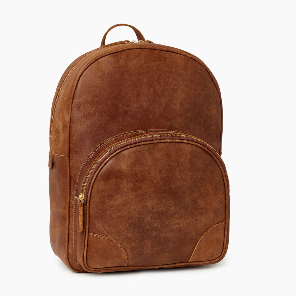 Roots-Leather New Arrivals-Jasper Backpack-Natural-A
