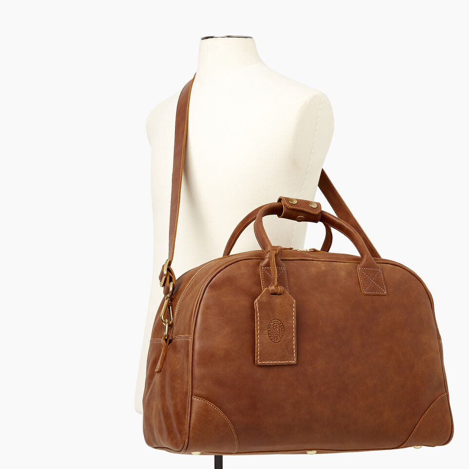 Roots-Leather Our Favourite New Arrivals-Jasper Gym Bag-Natural-B
