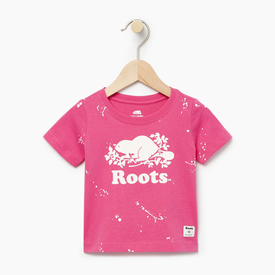 Roots-Kids Our Favourite New Arrivals-Baby Splatter Aop T-shirt-Raspberry Rose-A