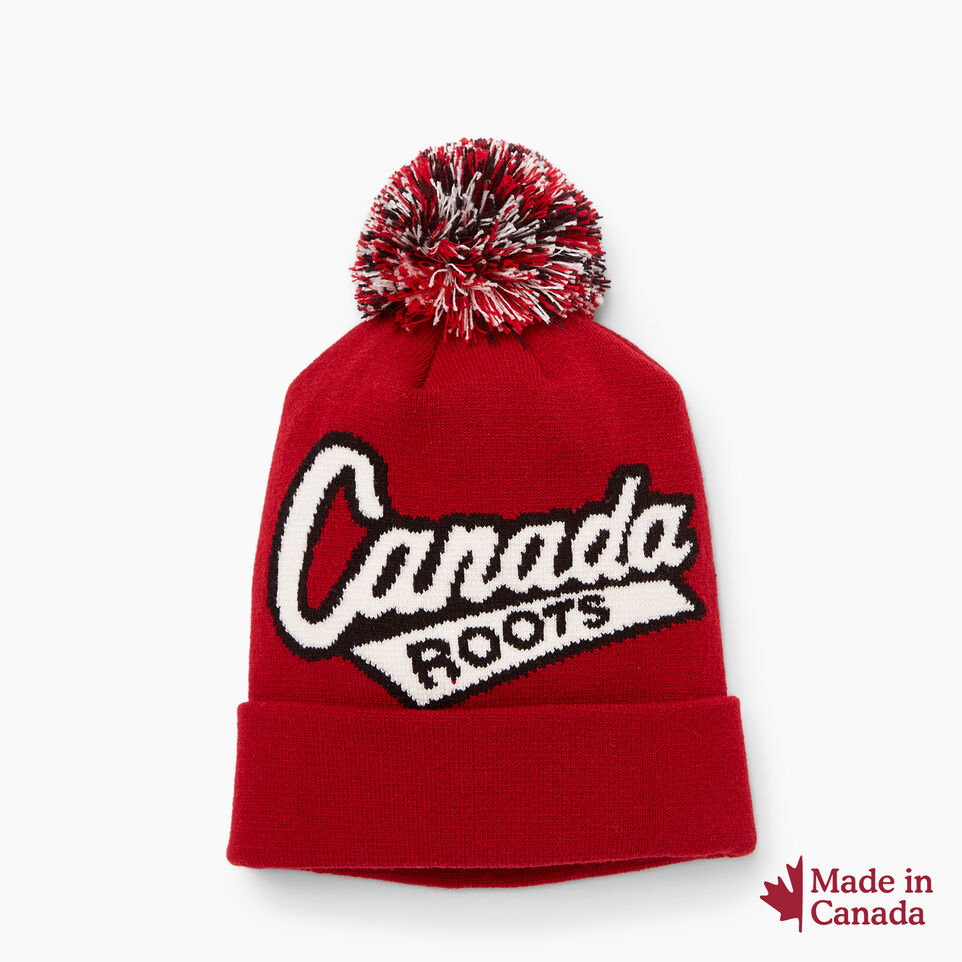 Roots-New For June Canada Collection By Roots™-Canada Pom Pom Toque-Red-A
