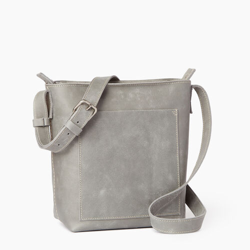 Roots-Leather  Handcrafted By Us Handbags-Rideau Crossbody-Quartz-A