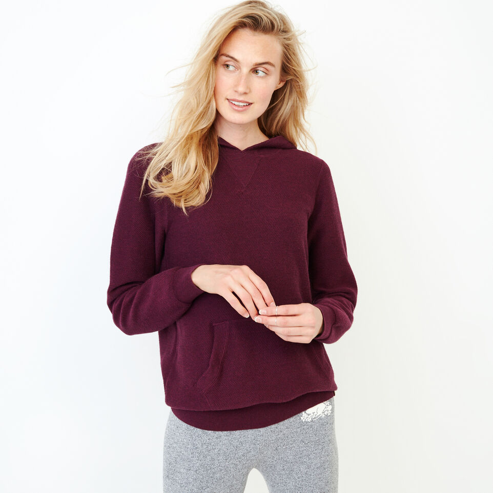 Roots-Women Categories-Maple Sweater Hoody-Pickled Beet Mix-A