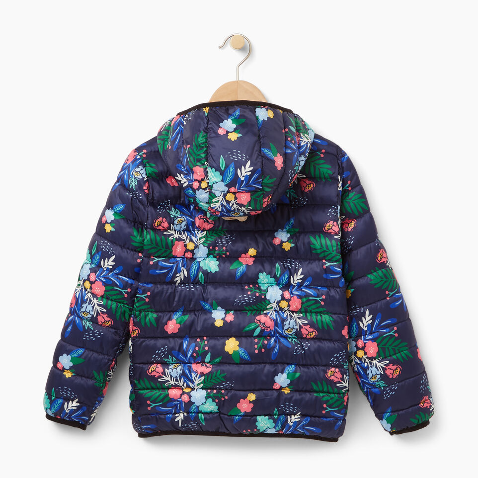 Roots-Winter Sale Kids-Girls Roots Puffer Jacket-Blue Depths-B