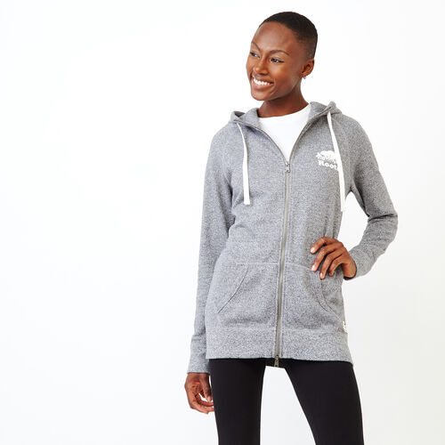 Roots-Women Categories-Capri Full Zip Hoody-Salt & Pepper-A