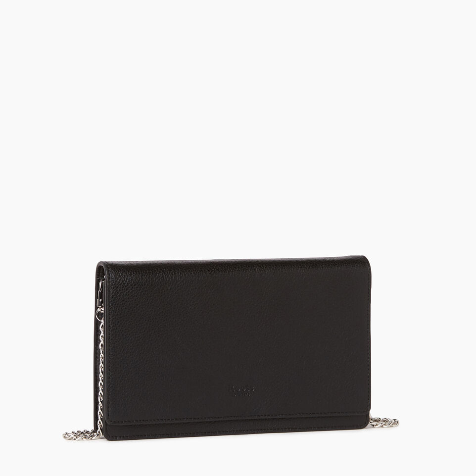 Roots-Leather  Handcrafted By Us Our Favourite New Arrivals-Sussex Wallet Bag-Black-A