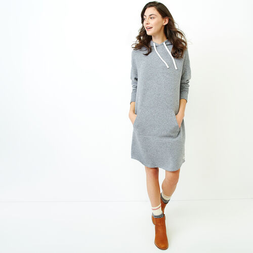 Roots-Women Categories-Cozy Fleece Kanga Dress-Salt & Pepper-A